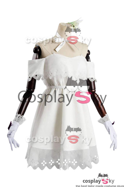 Fate Grand Order Mash Kyrielight White Dress Cosplay Costume