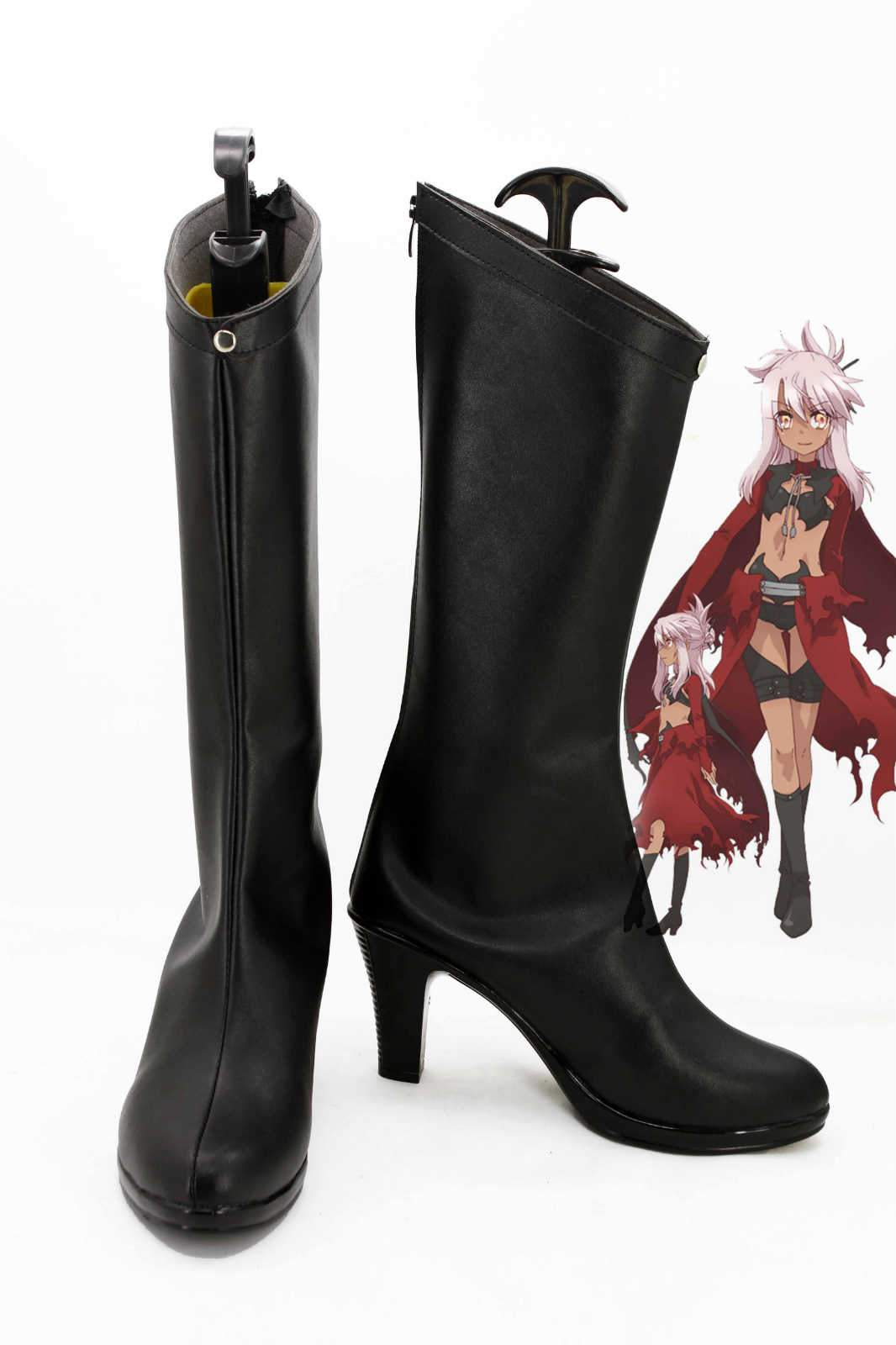 Fate/kaleid liner PRISMA Illya Kuro/Black Boots Cosplay Shoes