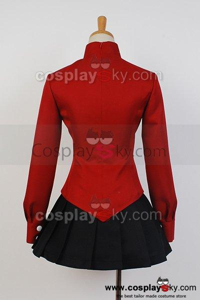 Fate/stay night Rin T?saka Coat Skirt Outfit Cosplay Costume Version 2