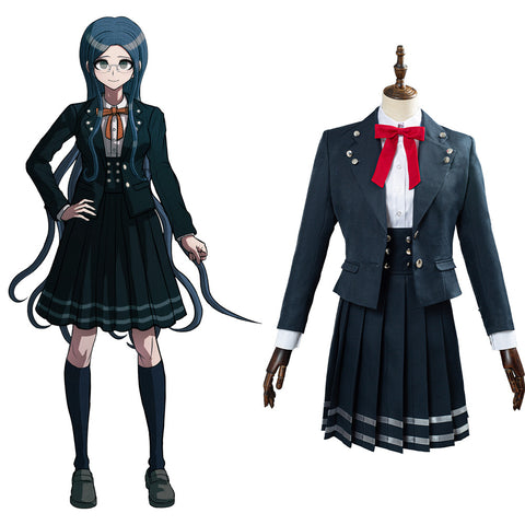 Danganronpa V3 Halloween Carnival Costume Shirogane Tsumugi School Uniform Skirts Outfit Cosplay Costume