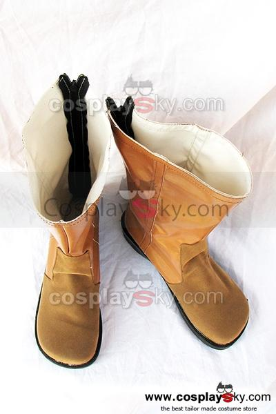 Final Fantasy 7 Aerith Cosplay Boots Brown