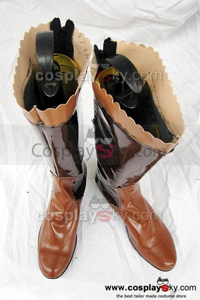 Final Fantasy XII Lenne Cosplay Boots Shoes Brown