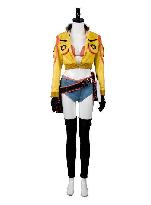 Final Fantasy XV  FF15 Cindy Aurum Gas Station Service Uniform Cosplay Costume