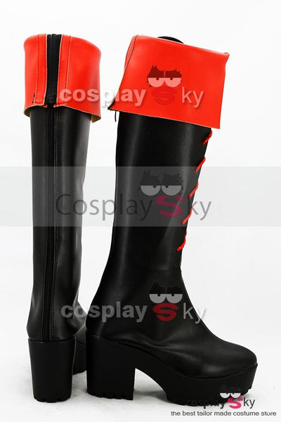 Gintama Kagura High-heeled Boots Cosplay Shoes