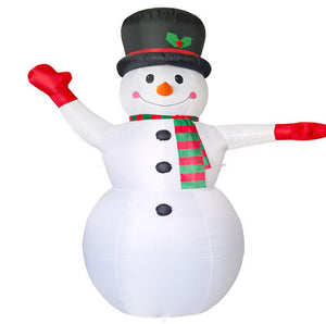 Inflatable Snowman Family Christmas LED Outdoor Decoration