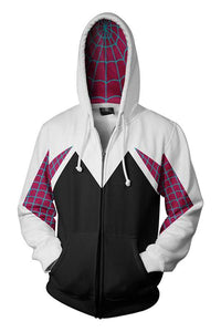 Spider-Man: Into the Spider-Verse Gwen 3D Zip-Up Sweatshirt Adult Unisex