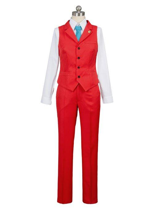 Gyakuten Saiban 4 Apollo Justice: Ace Attorney Polly Red Lawyer Suit Cosplay Costume