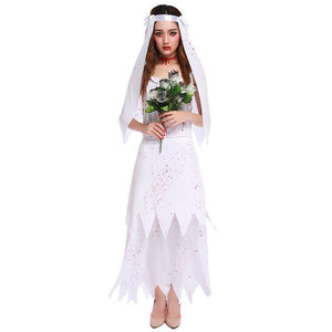 Halloween Sexy Zombie Bride Adult Ghost Dress Cosplay Costume