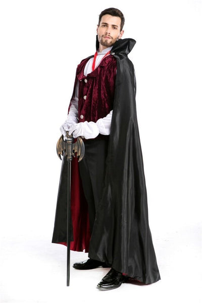 Halloween Vampire Witch Dracula Suit Dress Gown Robe Cloak Adult Cosplay Costume