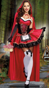 Halloween Womens Red Hat Sexy Queen Adult Cosplay Costume