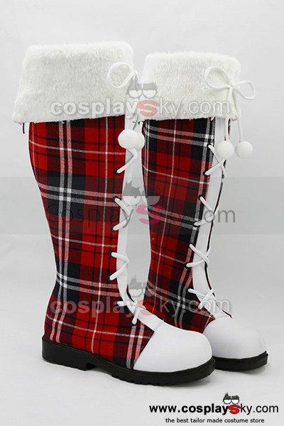 LoveLive! Boots Cosplay Shoes Christmas Version