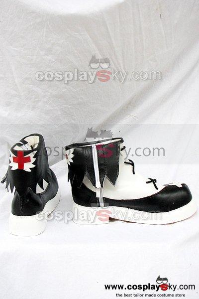 Neverossa Black and White Cosplay Boots Shoes