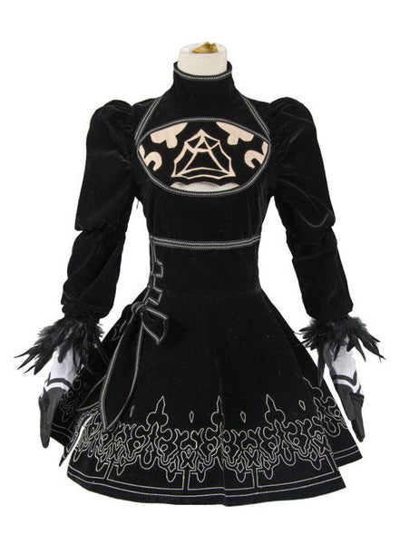 NieR:Automata 2B Uniform Dress Cosplay Costume