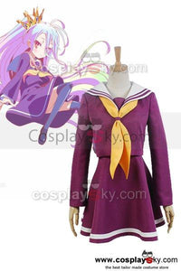 NO GAME NO LIFE Shiro Sailor Suit Cosplay Uniform Costume