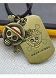 One Piece Skull Priate With Tag Necklace Pendant