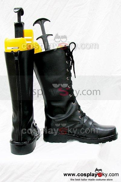 Punk Rock Zipper Black Boots Shoes Custom-Made
