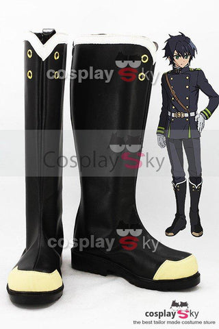 Seraph of the End Y?ichir? Hyakuya / Shinoa H?ragi Boots Cosplay Shoes