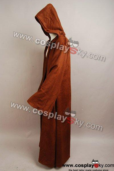 cd803ab0c5 Star Wars Brown Sith Robe Jedi Wool Cloak Kenobi Costume – Cosplaysky.ca
