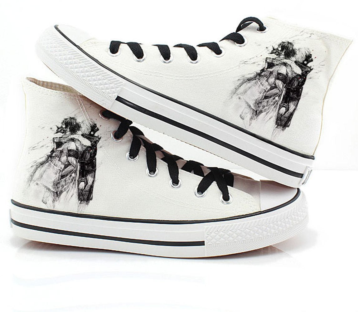Tokyo Ghoul Canvas Shoes White Sneakers Cosplay Shoes