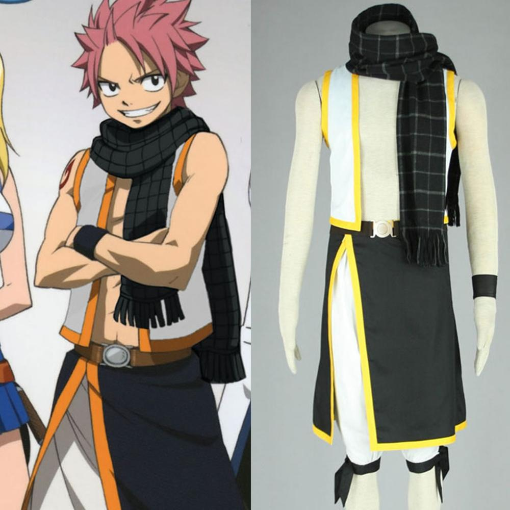 Fairy Tail Natsu Dragneel Muffler Scarf Cosplay Accessories