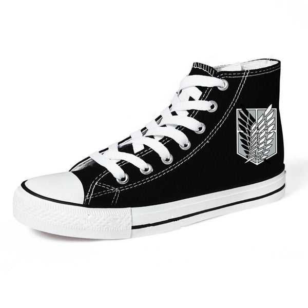 Shingeki no Kyojin Attack on Titan The Survey Corps Wings Canvas Shoes  Black Sneakers Cosplay Shoes