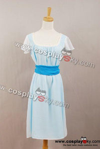 Twilight New Moon Bella Dream Sequence light blue chiffon dress