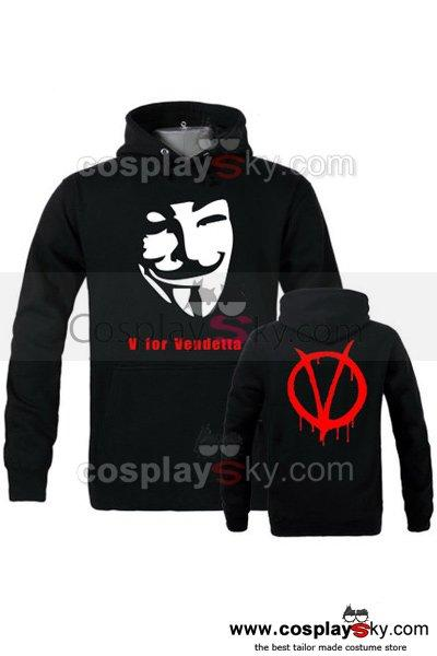 V for Vendetta Cosplay Hoodie Costume