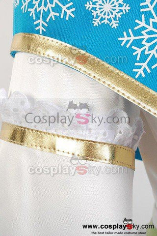 Vocaloid Snow Miku Dress Outfit Cosplay Costume