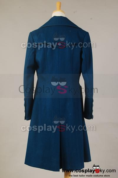 Doctor Who Amy Teal Wool Coat Costume