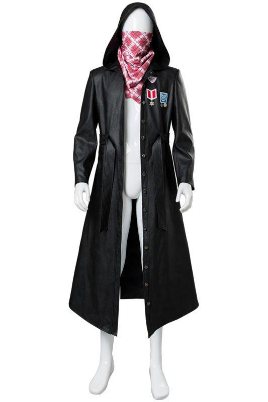 Player Unknown's Battlegrounds Male Suit Cosplay Costumes(Coat+Scarf)