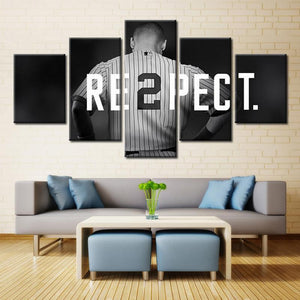 Baseball Printed Canvas - 5 PCs