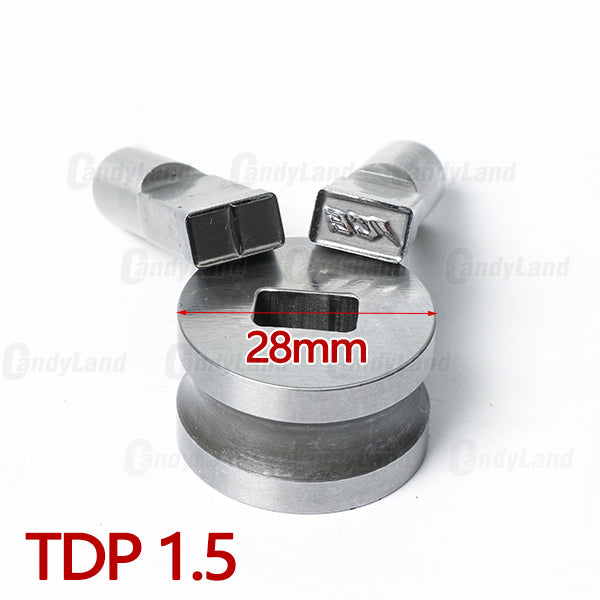 ICE Milk Tablet Die Candy Punch Die Set Custom Logo Punch Die Cast Pill Press For Tablet TDP Machine
