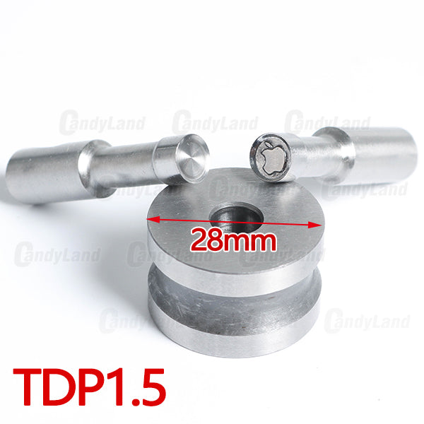 Apple Candy Tablet Press Candy Punch Die Set Custom Logo Punch Die Cast Pill Press For Tablet TDP Machine