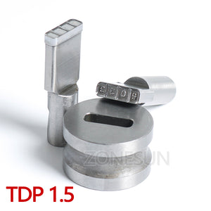 ZONESUN R039 custom die punching die punch tool milk tablet die sugar candy die mold stamp TDP0/1.5/3/5/6 pressing tool