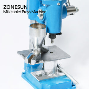 ZONESUN Sugar Milk Tablet Mini Press Machine Lab Professional Tablet Manual Punching Machine Medicinal Making Device For Hot Sale