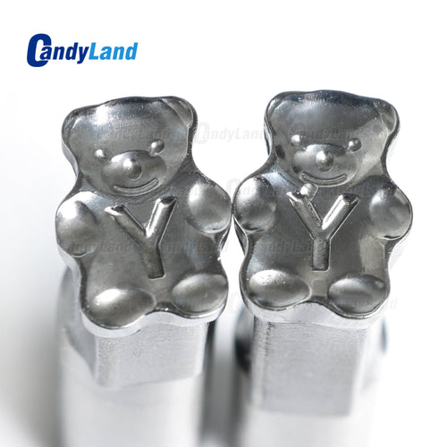 Bear Tablet 3D Punch Mold Candy Punch Die Set Custom Logo Punch Die Cast Pill Press For Tablet TDP Machine