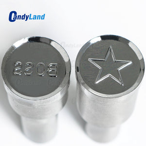 BOSS Star shape Tablet Press Candy Punch Die Set Custom Logo Punch Die Cast Pill Press For Tablet TDP Machine