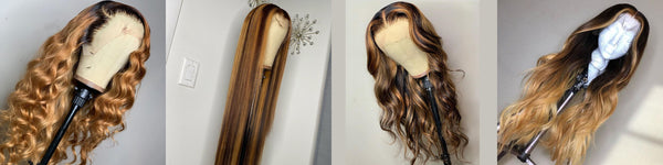 Human Hair Full Lace & Lace Front Blonde Styled Wigs