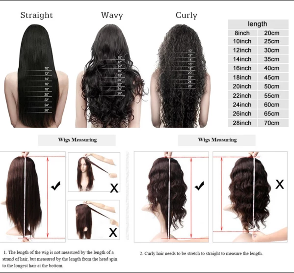 Human Hair Lace Front Stright Wigs