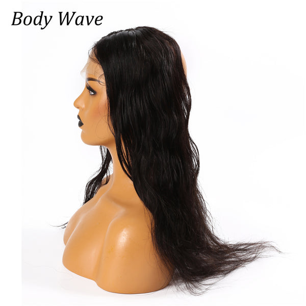Human Hair 360 Lace Frontal Closure Body Wave Style