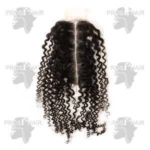 Lace Closure 2*6  Human Hair Kinky Curly