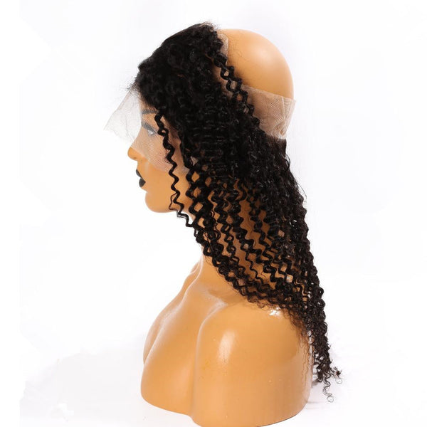 360 Lace Frontal Closure Human Hair Kinky Curl