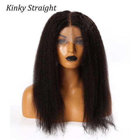 Human Hair 360 Lace Frontal Closure Kinky Texture