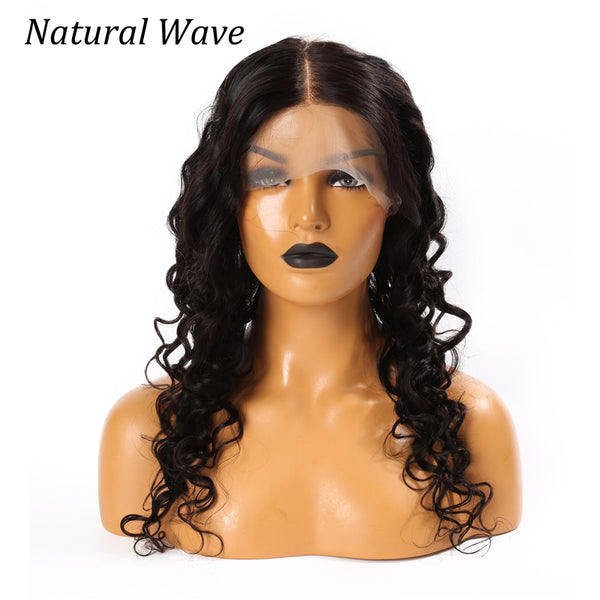 360 Lace Frontal Closure Natural Wave Human Hair