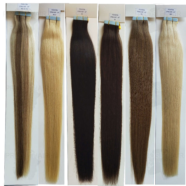 Human Hair Silk Straight Blonde Tape Extensions