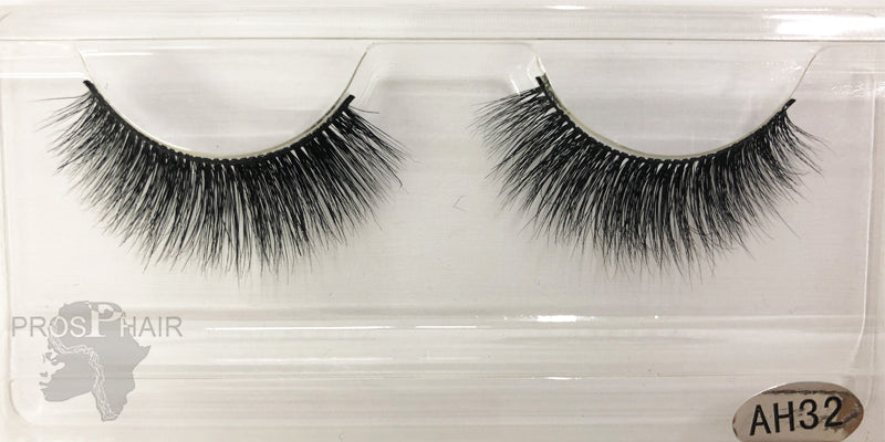 Handmade Hypo-allergenic 3D  False Eyelashes A-32