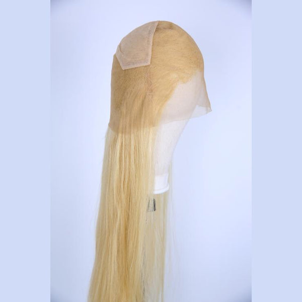 Peruvian Hair 613 Blonde Color Full Lace Straight Wigs