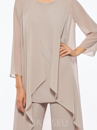 Best Seller Chiffon Mother of the Bride Jumpsuit with Long Sleeve Jacket