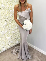 Trumpet/Mermaid Sleeveless Floor-Length Pleats Bridesmaid Dress