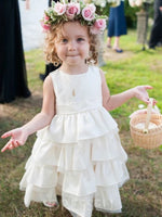 Scoop Sleeveless Tea-Length A-Line Flower Girl Dress